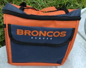 Broncos Denver Lunch Bag Cooler Insulated Forever Collectibles NFL Team