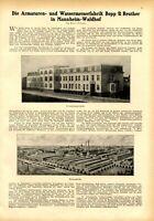 Armaturen & Wasseruhren Bopp & Reuther XL Reklame 1925 Mannheim Waldhof Werbung