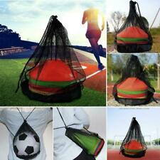 20 * 25cm Black Mesh Drawstring Bag For Sports Ball Equipment A2I2