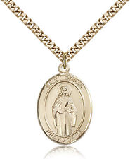 "Saint Odilia Medal For Men - Gold Filled Necklace On 24"" Chain - 30 Day Money..."