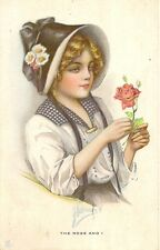 CARTE POSTALE POST CARD FANTAISIE USA FEMME WOMEN THE ROSE AND I - HARRISON