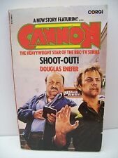 """Book, A New Story Featuring """"CANNON"""", Shoot-Out! by Douglas Enefer, PB, 1979"""