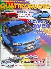 Quattroruote 670 2011 Prove Ferrari FF, Nissan Leaf. Sir Stirling Moss [Q95]