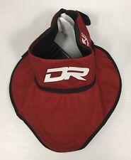 New Dr Pgbn bib throat protector senior large/Xl hockey Sr player neck guard red