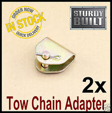 2x Chain Adapter G70 Tow Chain Ratchet Tie Down Straps FlatBed Truck Car Axle 2""
