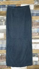 Vintage Monsoon Ladies Blue Cupro Soft Touch Fully Lined Maxi Skirt UK 8-10