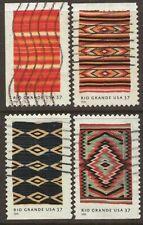Scott #3926-29 Used Set of 4, New Mexico Rio Grande Blankets