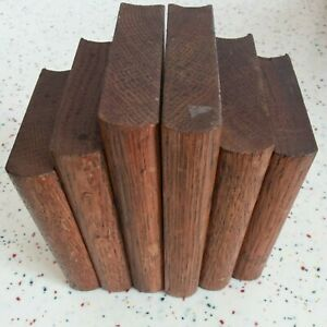 Vintage 1920-40s Pair Hard Wooden Book Ends Art Deco Retro Tiered Books Stepped
