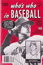 1983 Who's Who In Baseball Lifetime Records Baseball Guide Magazine