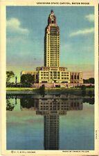 Louisiana State Capitol, Baton Rouge On Mississippi River, Louisiana Postcard