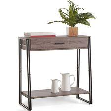 VonHaus Rustic Console Table Modern Industrial Design Lounge Living Furniture