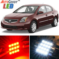 8 x Premium Red LED Lights Interior Package Kit for Nissan Sentra 2007-2014