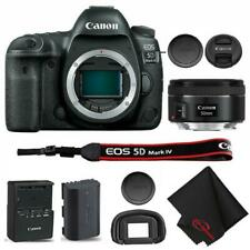 Canon EOS 5D Mark IV Full Frame Digital SLR Camera Body + EF 50mm f/1.8 STM Lens