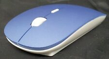BLUE Super Slim Optical Wireless Mouse Slimline Mice 2.4G 10m Range 1600 DPI