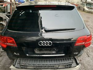 Audi A3 8p S Line Rear Boot Tailgate In Metallic Black 2011 Complete With Lights