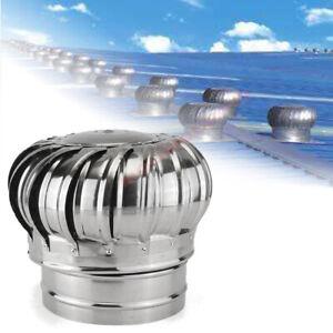 Stainless Steel Roof Ventilator Wind Turbine Air Vent Attic Ventilator 150/200mm