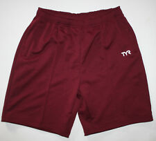 TYR Men's XL Shorts Burgundy Purple Exercise Workout Fitness With Drawstring New