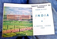 VINTAGE BOOKLET INDIA HOTEL DIRECTORY HOTELS ROOM RATES EXCHANGE RATES 1957