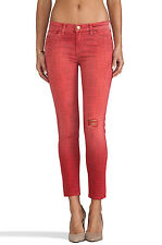 NWT Current/Elliott The Stiletto in Red Coral Bandana Stretch Skinny Jeans 24