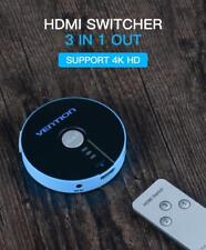 HDMI Switcher Splitter With Remote Control 4K 3D 1080P Interconnects PS4 TV 3x1