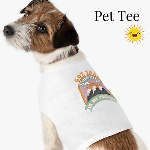 Retro Boho Sunshine Pet T-Shirt Tank Top, Cute Pet Sweater, Size XS