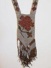 Vintage Art Deco 1920's Cut Steel Bead Flapper Necklace