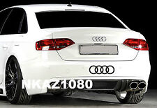 AUDI rings Vinyl Decal sticker Sport Racing car emblem BLACK