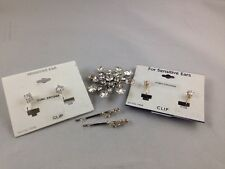 Cubic Zirconia Nickel Free Clip Earrings 2 Pair & Hairpins & Snowflake Brooch