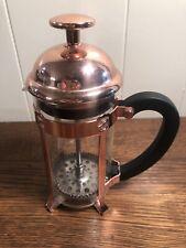 SMALL Copper COFFEE PLUNGER PRESS Starbucks 1-Cup