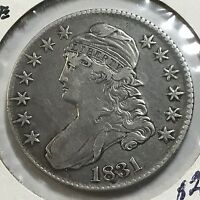 1831 SILVER BUST HALF DOLLAR  FROM OLD TYPE COIN COLLECTION