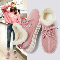 Womens Winter Snow Shoes Warm Cotton Shoes Outdoor Hiking Sneakers Athletic