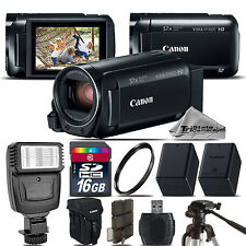 Canon VIXIA HF R 800 57x Zoom 3.28MP HD Camcorder + Flash + EXT BATT - 16GB Kit