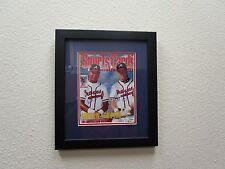 Sports Cards  Cover  Braves Chipper Jones Andruw Jones Signed  Framed SMC Cert.