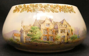 Vintage Royal Doulton Old English Inns D6072 Bowl - The Peacock Rowsley
