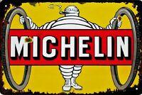 """Retro Blechschild Vintage Nostalgie look 20x30cm """"Michelin"""" neu"""