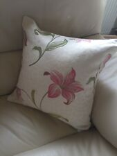 Cream Pink Embroidered 43cm X 43cm Cushion With Hollowfibre Bounce Back Inner