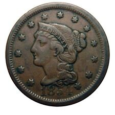 Large cent/penny 1854 original collector coin