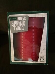 WEMBLEY FAROUT SUPER SPRING THING GIANT RED SLINKY TOY KIDS ADULT GAG