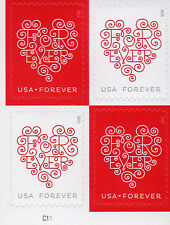 SC#  US  4955-56 2015 Forever Hearts-P#BLK4(W/Die Cuts) MNHPSA-FREE Shipping