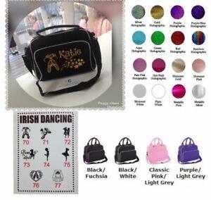 ❤️ personalised dance bag IRISH DANCING bag clipart glitter any name FAB!!! gift