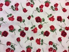 Timeless Treasures - Red Roses Fabric - #GLAMOUR-C5048 - 100% Cotton