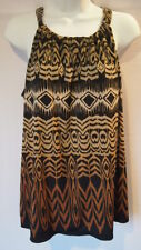Axcess Tank Top Size Large Brown Black Women's Fashion L Dressy Tops