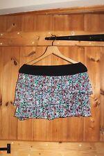 Floral Chiffon and Jersey Layered Mini Skirt Size 10