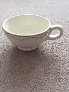 Large Cream Ceramic Tea Cup
