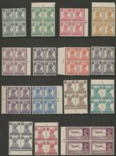 India MINT GVI 1940-43 definitive basic set blocks