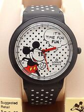 "NICE NOS MEN'S LORUS MICKEY MOUSE ""IT'S TIME FOR FUN"" WRISTWATCH ~MODEL: RMF655~"