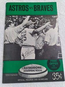 1972 Astros vs. Braves Game Souvenir Program  SCORED scorecard Hank Aaron