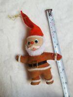Vintage Santa Claus Ornament Christmas xmas Flocked Plastic Looks Old but Cute