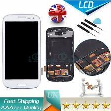 For Samsung Galaxy i9300 S3 i9305 White LCD Display Touch Screen Digitizer+Frame