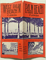 Vintage 1930's WEST PALM BEACH FLORIDA Photo Travel Brochure GREAT IMAGES!